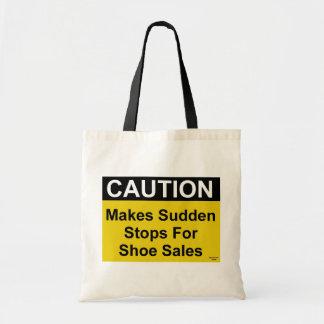 Schuh-Verkaufs-Vorsicht-Tasche Budget Stoffbeutel