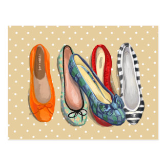 Schuhe - kleine Pantoffel Postkarte