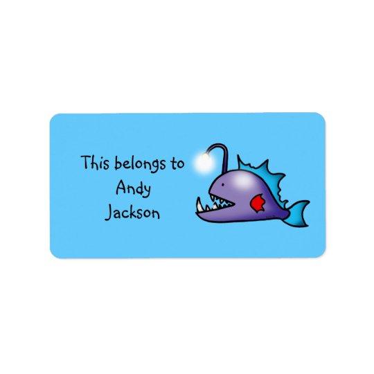 Schulaufkleber (Tiefseefische) Adress Aufkleber