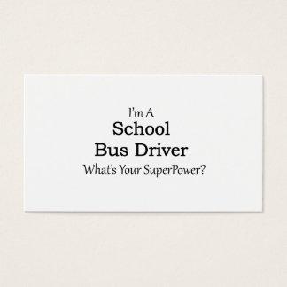 Schulbus-Fahrer Visitenkarte