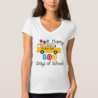 Schulbus feiern 100 Tage T-Shirt