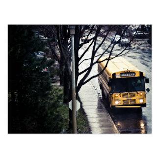 Schulbus Postkarte