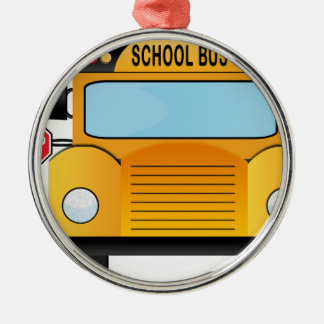 Schulbus Silbernes Ornament