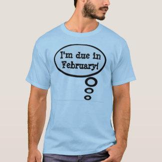 Schulden-im Februar Schwangerschafts-Shirt T-Shirt