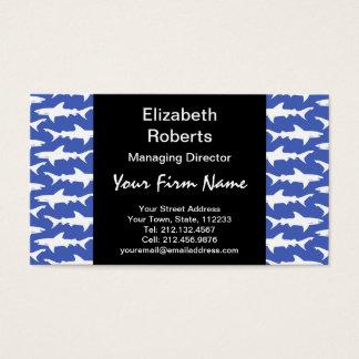 Schule der Haifische lustiges Blaues und weiß Visitenkarte