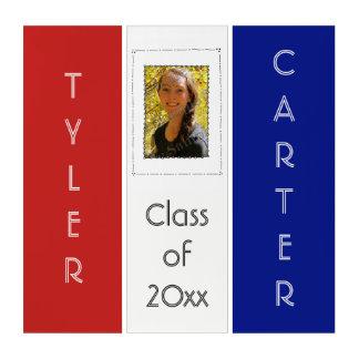 Schule färbt Abschluss-Klassen-Foto-Einsatz Triptychon