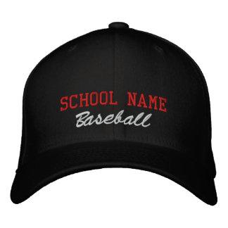 Schulgeist-Baseball gestickter Hut Bestickte Mützen