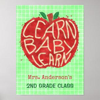 Schullehrer-Klassenzimmer Apple | lernen Namen des Poster