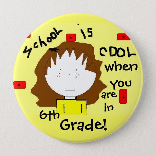Schulpersonalisierter Knopf - fertigen Sie den Runder Button 10,2 Cm