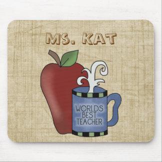 Schulthema-bester Lehrer-Apple-Spaß Mousepad