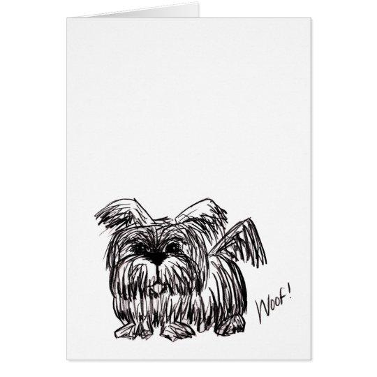 Schuss ein Staub-Mopp-Hund Grußkarte