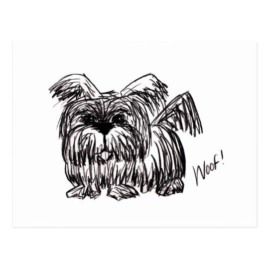 Schuss ein Staub-Mopp-Hund Postkarte