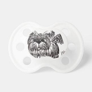 Schuss ein Staub-Mopp-Hund Schnuller