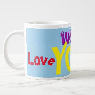 Schuss-Liebe verlosen Sie riesige Jumbo-Mug