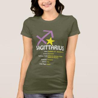 Schütze-Merkmal-Damen-dunkler Petite T - Shirt