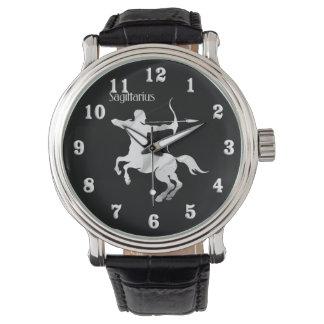 Schütze-silberner Bogenschütze-Tierkreis Uhr