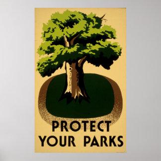 Schützen Sie Ihr Vintages 1938 WPA Plakat der