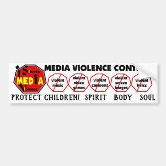 Schützen Sie Kinder! Geist-Körper-Soul-Englisch Autoaufkleber