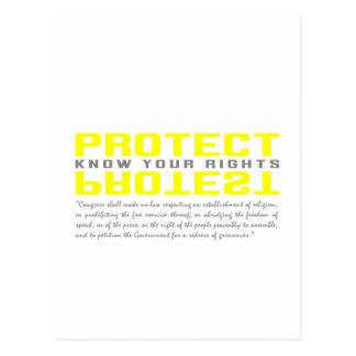 Schützen Sie Protest Postkarten