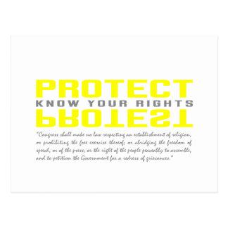 Schützen Sie Protest Postkarte