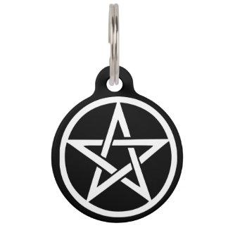 Schützender Hexe-Pentagramm-Haustier-Umbau Haustiermarke