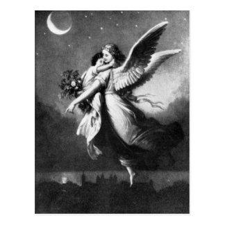 Schutzengel nachts postkarte