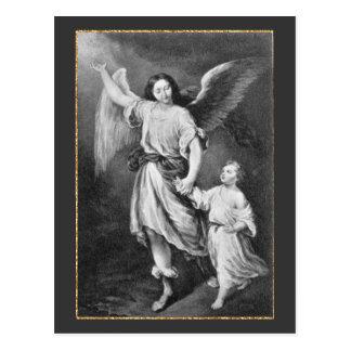 Schutzengel und Kind Postkarte