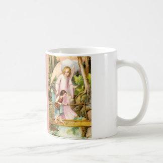 Schutzengel und Mädchen Tasse
