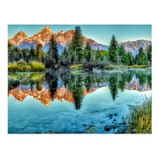 Schwabachers Landung und Biber-Teich Postkarte