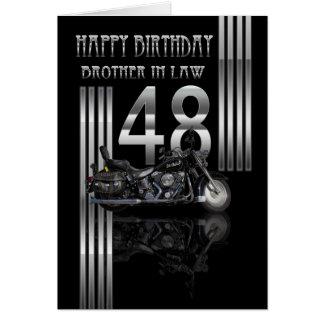 Schwager-48. Geburtstags-Karte - Motorrad Karte