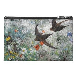 Schwalben-Vogel-Tier-Blumen-Reise-Tasche Reisekulturtasche