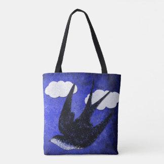 Schwalbenpapier-Schnittwolken Tasche