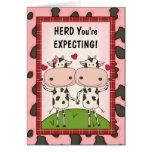 Schwangerschaft - Kühe für erwartungsvolle Eltern Grußkarte