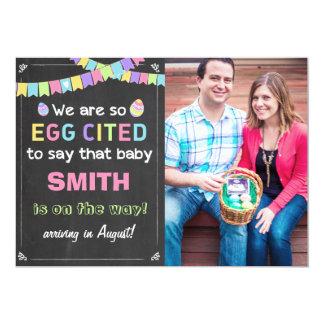 Schwangerschaft Ostern Eggcited decken Mitteilung 12,7 X 17,8 Cm Einladungskarte