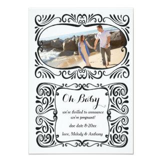 Schwangerschafts-Foto-Mitteilung 12,7 X 17,8 Cm Einladungskarte