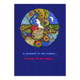 Schwangerschafts-Illustrations-Einladung 12,7 X 17,8 Cm Einladungskarte