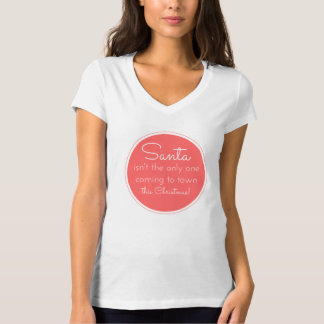 Schwangerschafts-Mitteilungs-WeihnachtsT - Shirt