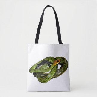 Schwarz-eingestelltes Ratsnake oder grüne Tasche