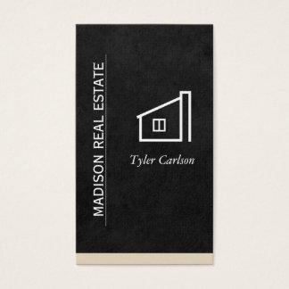 Schwarz glätten Sie,/beige Ordnungs-/Zuhause-Logo Visitenkarte