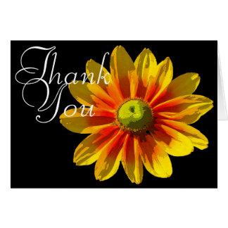 Schwarz-Mit Augen Blumen Susan-FarbFotoChic danken Karte