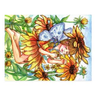 Schwarz-mit Augen Susan-Fee Postkarte