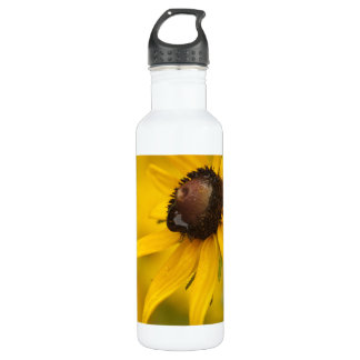 Schwarz-Mit Augen Susan mit einem Teardrop Edelstahlflasche