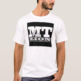 Schwarz-n-Weißes Logo Mt Zion T-Shirt