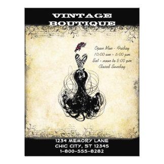 Schwarz-u. Rosa-Vintage KleiderButike oder 21,6 X 27,9 Cm Flyer