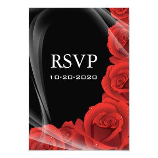 Schwarz-u. Rosen-Hochzeit UAWG Wartekarten 8,9 X 12,7 Cm Einladungskarte