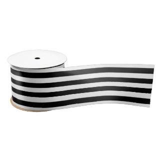 Schwarz u. Weiß Stripes Hochzeits-Geschenk-Band Satinband