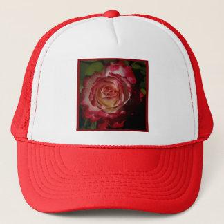Schwarz-Umrandete Rote Rose Truckerkappe