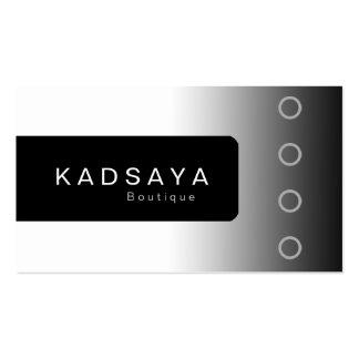 Schwarz-weiße Butike Geschäfts-Karte BW 2 Kadsaya Visitenkarten Vorlage