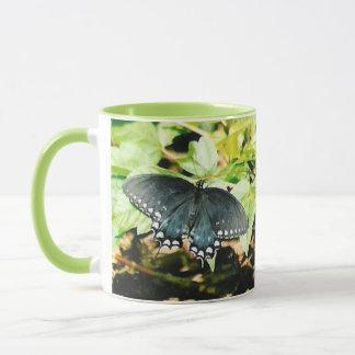 Schwarz-weiße Frack-Schmetterlings-Foto-Tassen Tasse