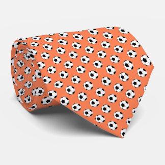 Schwarz-weiße Fußball Fútbol Bälle auf Krawatte